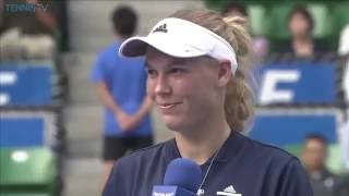 Caroline Wozniacki 2016 Toray Pan Pacific Open Final Speech