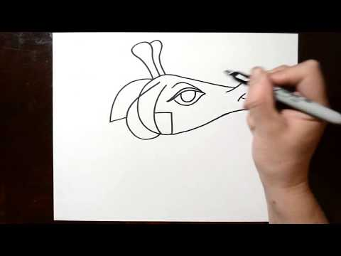 How to Draw a Giraffe After Writing Alphabet Letter G - LetterToons Coloring Book for kids!