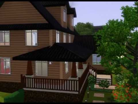 Les sims 3 construction de maison youtube for Modele maison sims