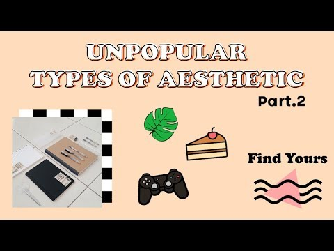 UNPOPULAR TYPES OF AESTHETIC // How to be Aesthetic (Find yours) Part.2