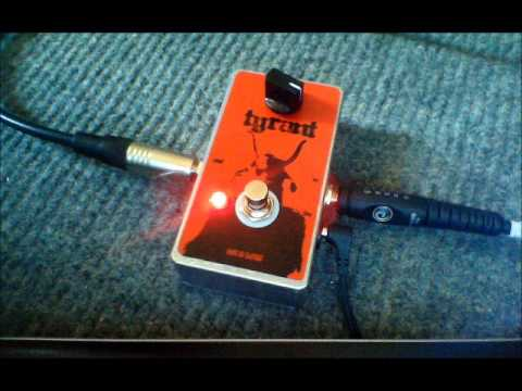 TYRANT Fuzz Pedal - Nine of Swords Effects. Handcrafted in the UK.