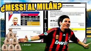 ¿¿¿FICHARÁ MESSI POR EL AC MILÁN Y GRATIS???  FIFA 17 Modo carrera #10