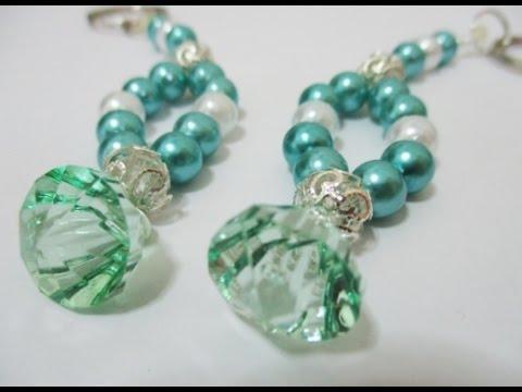 diy-#89-|-pearls-&-beads-keychain-♥