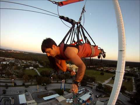 World's Tallest SkyCoaster at Sunset (300 FT)- HD - GoPro Hero - (Kissimmee - Orlando)