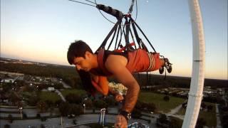 World's Tallest SkyCoaster at Sunset (300 FT)- HD - GoPro Hero - (Kissimmee - Orlando)