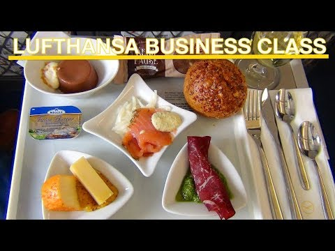 LUFTHANSA VIP | Business Class | Sitze | Essen | Service | Waschräume | Kompletter Flug Report