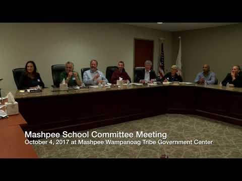 School committee meetinig 10-4-17 at the Mashpee Wamopanaog Tribe Government Center