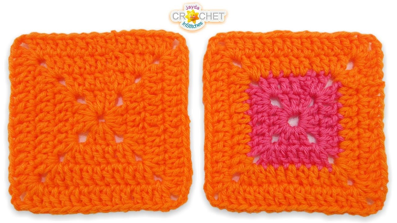 Solid Double Crochet Granny Square Super Easy Beginner Pattern