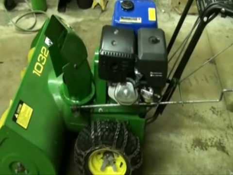 John Deere 1032 Snowblower Repair & Modification Video Part #12 ...