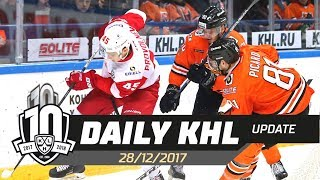 Daily KHL Update - December 28th, 2017 (English)
