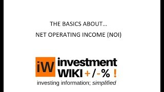 NET OPERATING INCOME Explained with examples