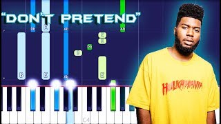 Khalid - Don't Pretend Piano Tutorial EASY (Piano Cover)