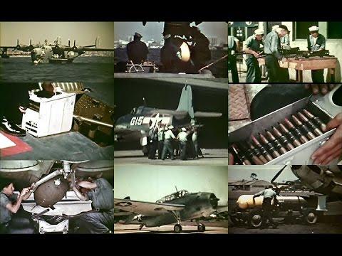 WW2 U.S. Navy Aviation Ordnancemen: Bullets, Bombs & Torpedoes (1944-Restored Color)