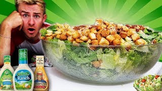 THE WORLD'S BIGGEST SALAD CHALLENGE! (12,000+ CALORIES)