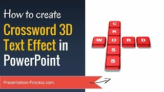Create Crossword 3D Text Effect in PowerPoint