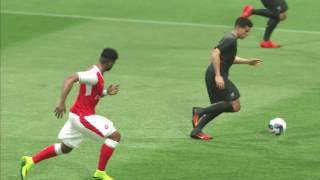 PES 2017 Arsenal vs Liverpool 0-2 Gameplay PS3