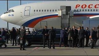 Белград.  Путина встретили более 100 тыс. жителей Сербии