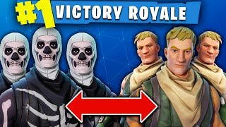PRO FORTNITE SQUAD PLAYS AS DEFAULT SKINS & TRICKS EVERYONE!!! (INSANE SQUAD WINS!)
