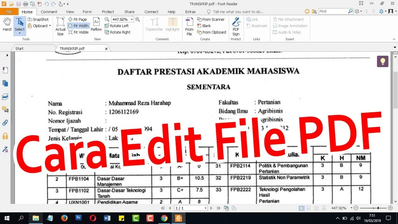 CARA MENGEDIT dan MENAMBAH TEKS PADA FILE PDF - YouTube