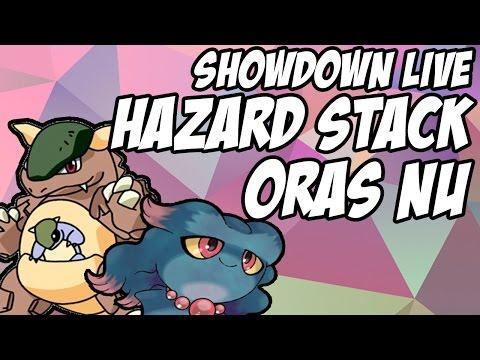 Hazard Stack - Pokemon ORAS NU Showdown LIVE