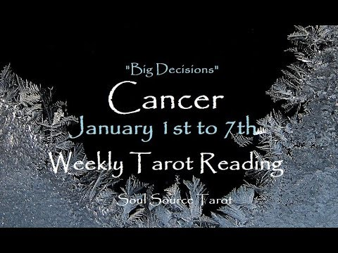 ~Cancer~January 1st to 7th, 2018~Crumbling~Weekly Tarot Reading