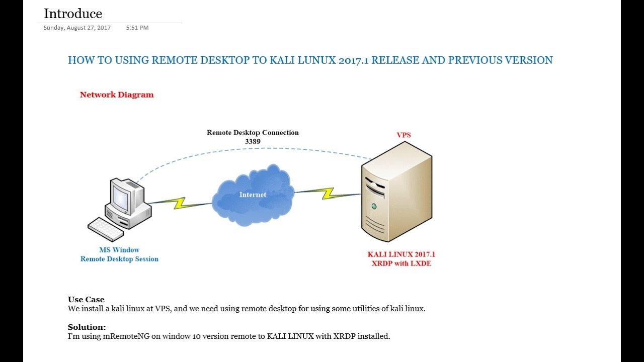 Install XRDP KALI LINUX Using mRemoteNG and XRDP