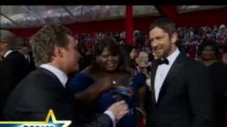 2010 Oscars Red Carpet: When Gabourey Sidibe Meets Gerard Butler - Id Hit That