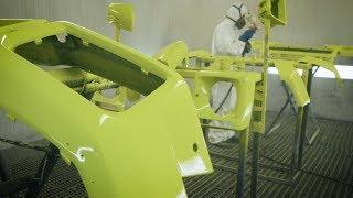Самодельный Gelandewagen 6х6 Brabus.Начало покраски в Желтый Лимон.
