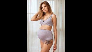 Трусы для беременных женщин ФЭСТ 40005 серый меланж черный