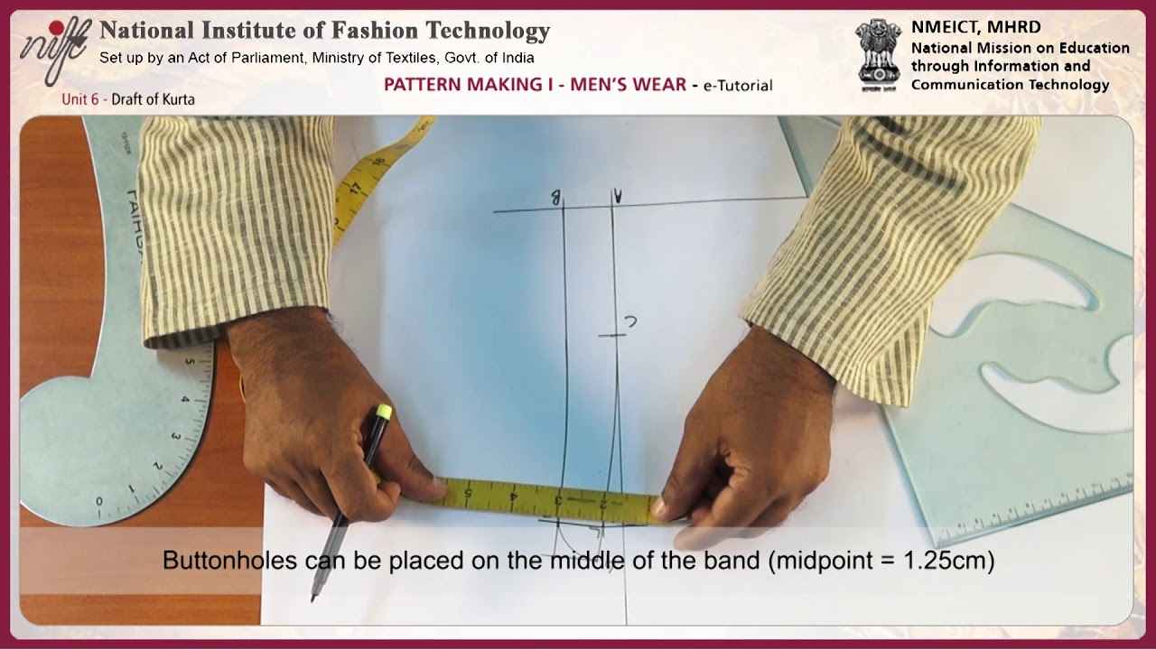 Pattern making mens wear 1 draft of kurta youtube pattern making mens wear 1 draft of kurta fandeluxe Images