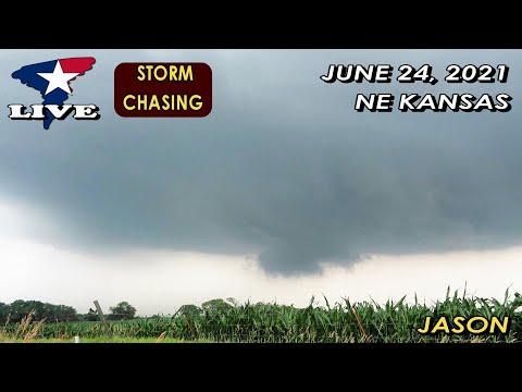 June 24, 2021 LIVE Tornado Warned Storm near Marysville, Kansas
