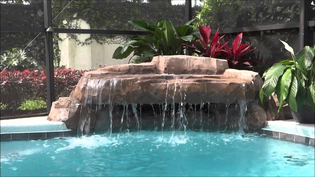 Small Grotto Pool Waterfall Swimming Pool Rock Watefall