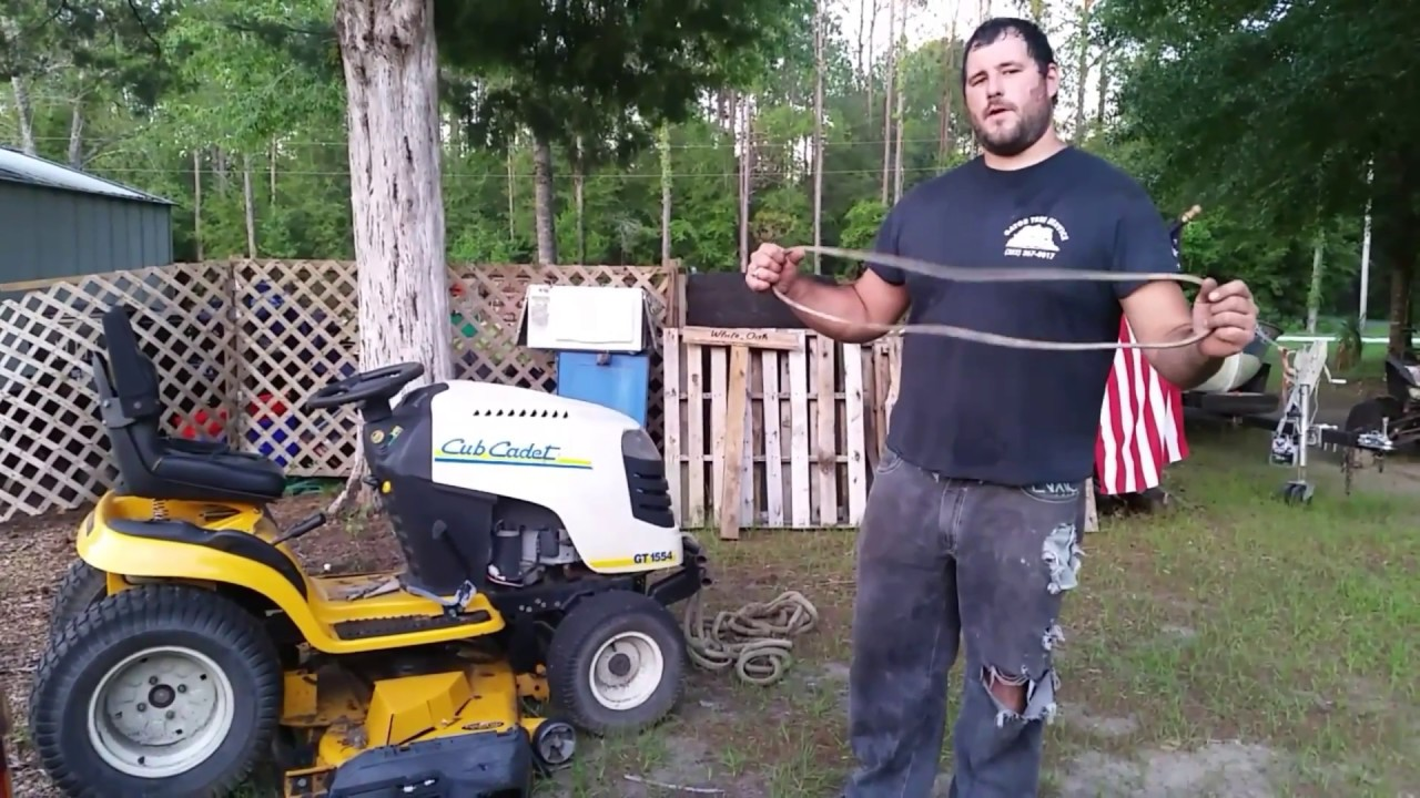 how to replace cub cadet drive belt without taking off mower deck [ 1280 x 720 Pixel ]