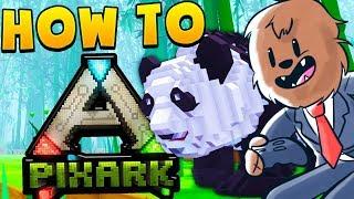 MINECRAFT MEETS ARK - HOW TO PIXARK SMP #1