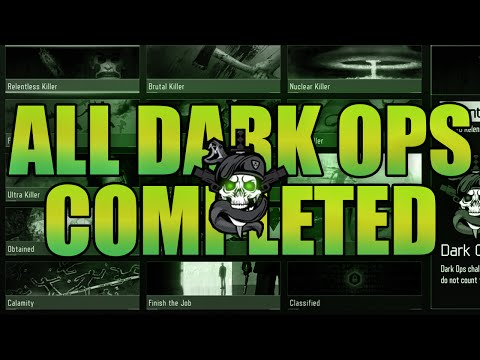BO3 COMPLETING ALL DARK OPS CHALLENGES