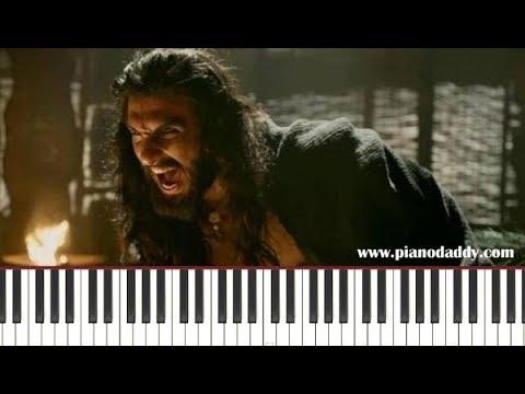 Khalbali (Padmavat) Piano Lesson ~ Piano Daddy