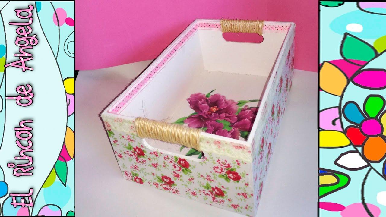 Diy como decorar una caja de madera con papel mache y decoupage regalo dia san valentin youtube - Decoracion de cajas ...