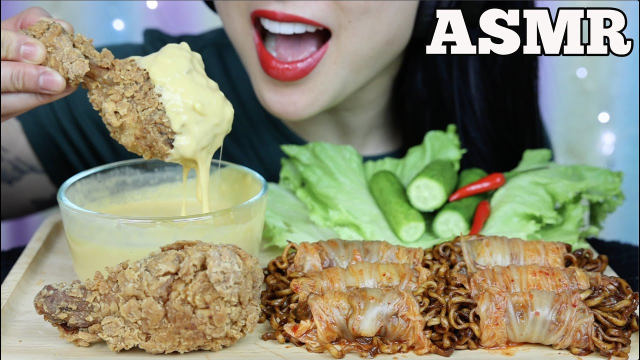 Asmr Fried Chicken Cheese Sauce Kimchi Wrap Blackbean Noodle Eating Sound No Talking Sas Asmr Youtube The most popular channels are: asmr fried chicken cheese sauce kimchi wrap blackbean noodle eating sound no talking sas asmr