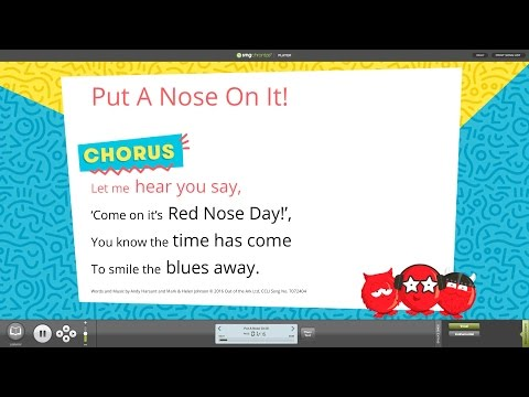 Put A Nose On It! [Red Nose Day 2017] - Words on Screen™ v2 Sample