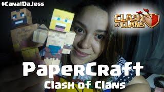 Aprenda a Fazer PaperCraft do Clash Of Clans