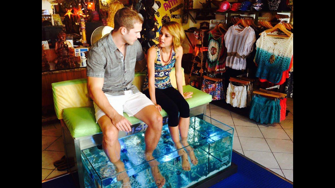 Creadores de emociones fish spa experience youtube for Fish foot massage