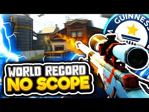 WORLD RECORD LONGEST NO SCOPE (CS GO Funny Moments in Competitive)