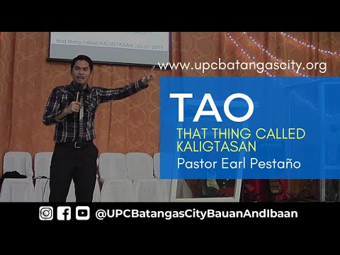 3 7 2015 TAO Pastor Earl Pestaño THAT THING CALLED KALIGTASAN