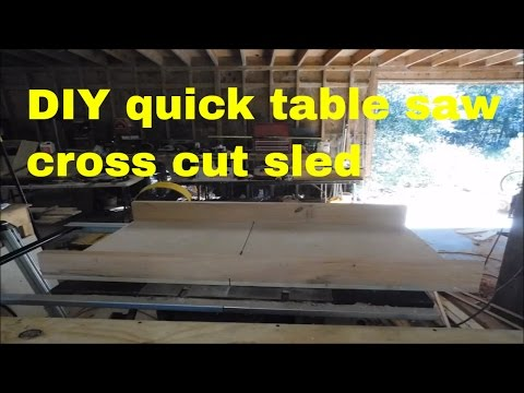 DIY Quick and Easy Cross Cut sled