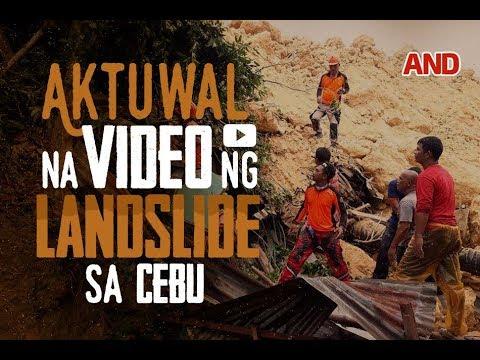 Aktuwal na video ng landslide sa Cebu