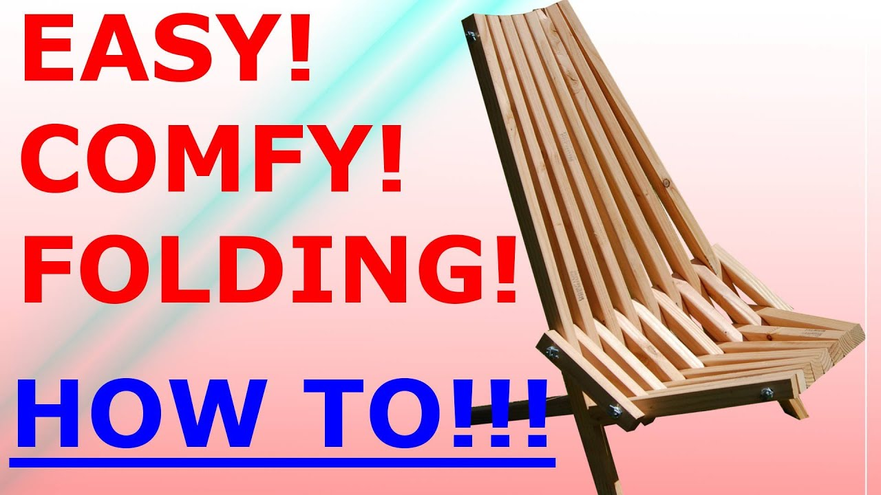 How To Make The Folding Stick Chair Easy Project YouTube