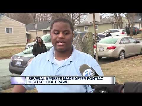 5 students arrested in brawl at Pontiac High School