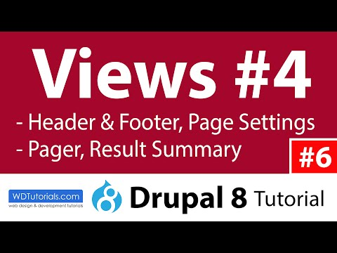 Drupal 8 - How To Use Views Header And Footer - YouTube