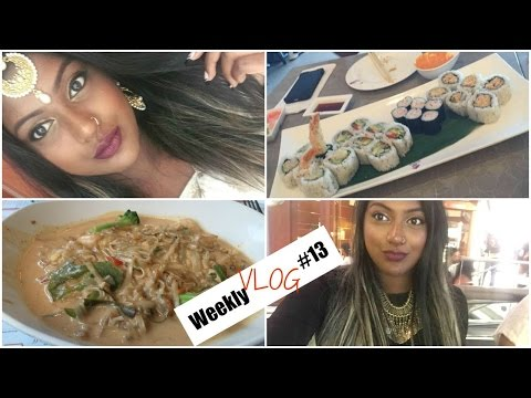 Weekly Vlog #13| Downtown, Sushi Date, Tamil Fest, FOOD!