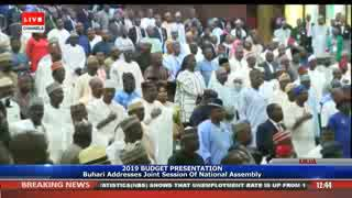 Video: Jeers, Cheers As Buhari Presents 2019 Budget Proposal To NASS | The Precision TV